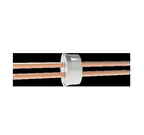 0.250 Conductor Diameter 2 Pin 8kV Copper Tube Conductor Weld