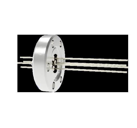 4 Pin, 0.032 Inch Diameter Nickel Conductors, 2kV, 5 Amp Feedthrough on CF1.33 Conflat Flange