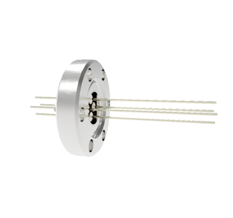 4 Pin, 0.032 Inch Diameter Stainless Steel Conductors, 2kV, 1.1 Amp Feedthrough on CF1.33 Flange