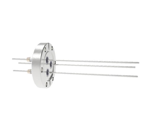 0.094 Conductor Diameter 3 Pin 5kV 16.5 Amp Nickel Conductor in a CF2.75