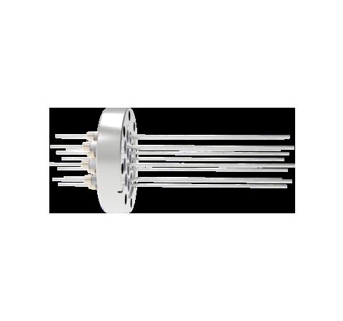 0.094 Conductor Diameter 12 Pin 5kV 16.5 Amp Nickel Conductor in a CF3.375