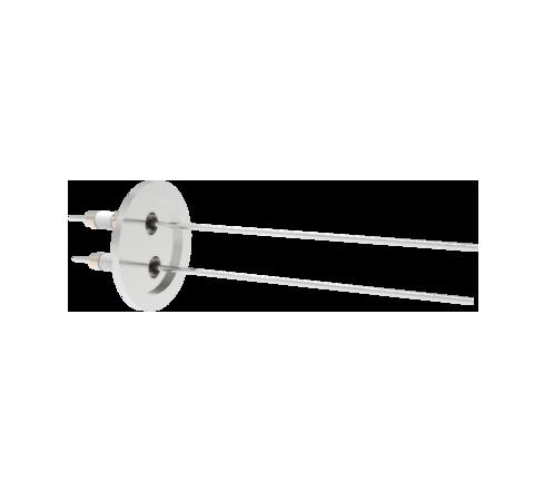0.094 Conductor Diameter 2 Pin 10kV 16.5 Amp Nickel Conductor in a KF40