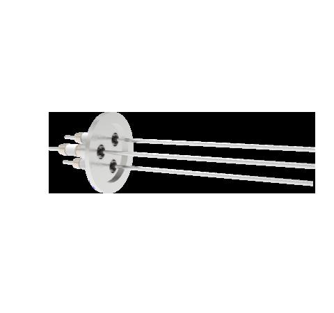0.094 Conductor Diameter 3 Pin 10kV 16.5 Amp Nickel Conductor in a KF40