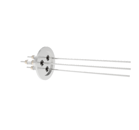 0.094 Conductor Diameter 3 Pin 10kV 3.6 Amp 304 Stn. Stl. Conductor in a KF40