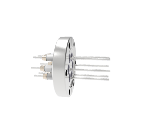 0.094 Conductor Diameter 6 Pin 5kV 16.5 Amp Nickel 200 Conductor in a CF2.75