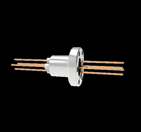 0.050 Conductor Diameter 4 Pin 3kV 27 Amp Copper Conductor in a CF1.33