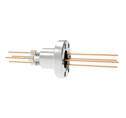0.050 Conductor Diameter 4 Pin 6kV 27 Amp Copper Conductor in a CF1.33