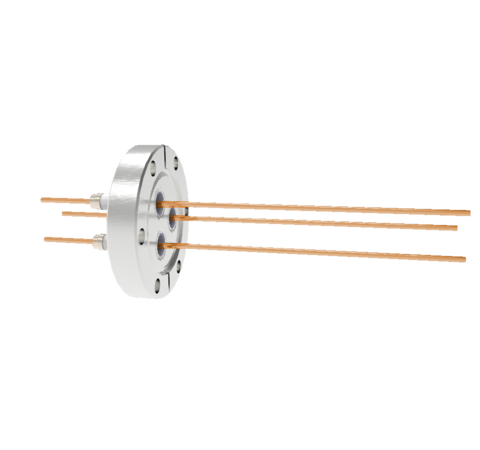 0.094 Conductor Diameter 3 Pin 5kV 55 Amp Copper Conductor in a CF2.75