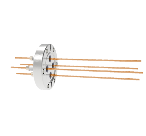 0.094 Conductor Diameter 4 Pin 5kV 55 Amp Copper Conductor in a CF2.75