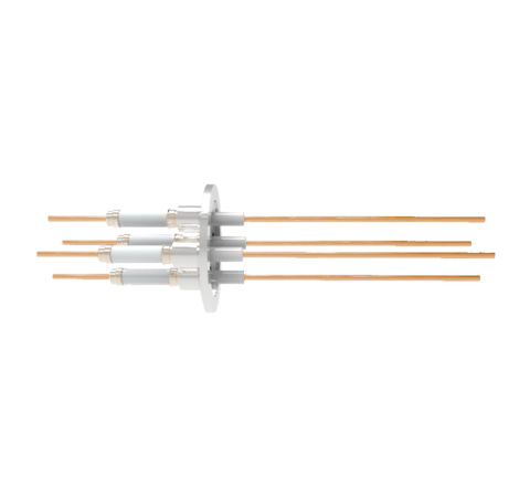 0.094 Conductor Diameter 4 Pin 14kV 55 Amp Copper Conductor in a KF40