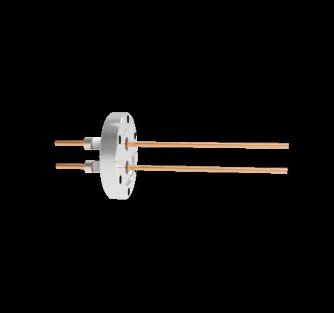0.154 Conductor Diameter 2 Pin 5kV 100 Amp Copper Conductor in a CF2.75