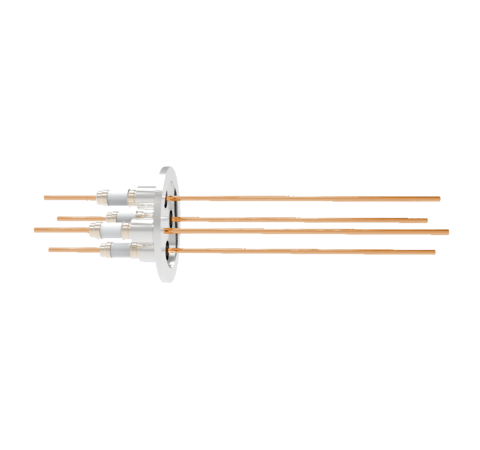 0.094 Conductor Diameter 4 Pin 5kV 55 Amp Copper Conductor in a KF40