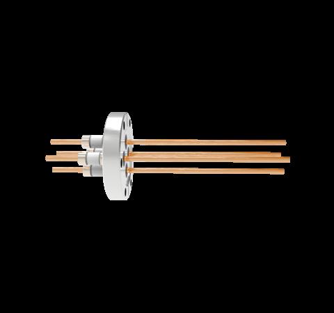0.154 Conductor Diameter 4 Pin 5kV 100 Amp Copper Conductor in a CF2.75