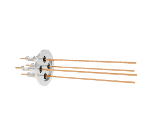 0.094 Conductor Diameter 4 Pin 10kV 30 Amp Copper Conductor in a KF40
