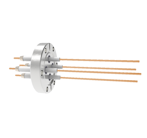 0.094 Conductor Diameter 4 Pin 20kV 30 Amp Copper Conductor in a CF2.75