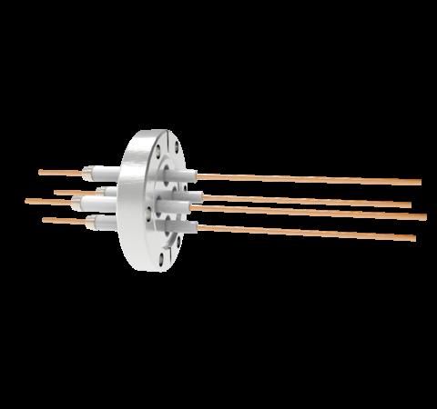 0.094 Conductor Diameter 4 Pin 14kV 55 Amp Copper Conductor in a CF2.75