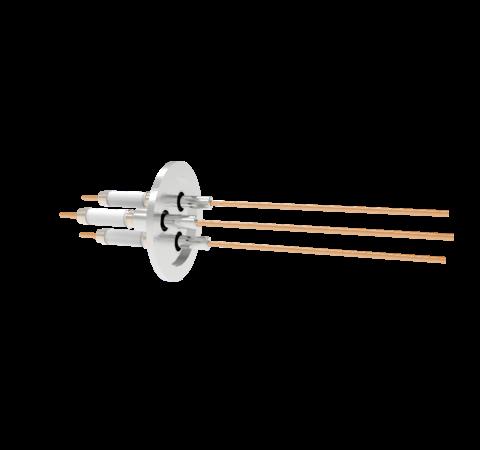0.094 Conductor Diameter 3 Pin 20kV 30 Amp Copper Conductor in a KF40