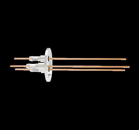 0.094 Conductor Diameter 3 Pin 5kV 55 Amp Copper Conductor in a KF40