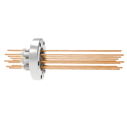 0.094 Conductor Diameter 12 Pin 5kV 55 Amp Copper Conductor in a CF2.75