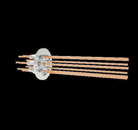0.094 Conductor Diameter 8 Pin 5kV 55 Amp Copper Conductor in a KF40