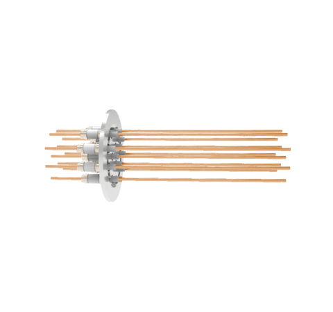 0.094 Conductor Diameter 12 Pin 5kV 55 Amp Copper Conductor in a KF50