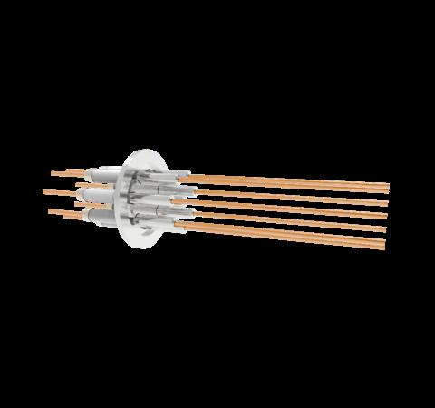 0.094 Conductor Diameter 8 Pin 12kV 55 Amp Copper Conductor in a KF40