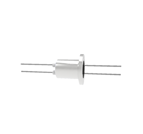 0.050 Conductor Diameter 2 Pin 3kV 13.5 Amp Molybdenum Conductor in a KF16