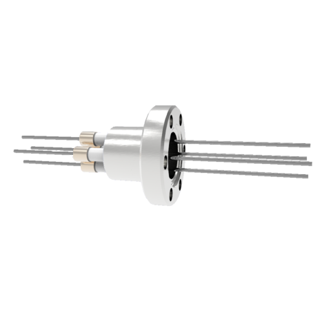 0.050 Conductor Diameter 4 Pin 6kV 13.5 Amp Molybdenum Conductor in a CF1.33