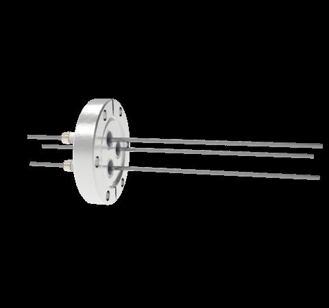 0.094 Conductor Diameter 3 Pin 5kV 28 Amp Molybdenum Conductor in a CF2.75