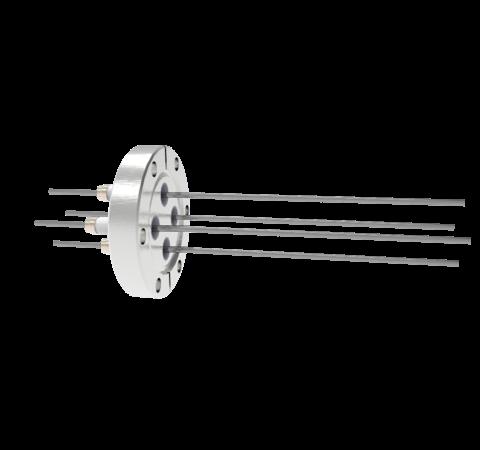 0.094 Conductor Diameter 4 Pin 5kV 28 Amp Molybdenum Conductor in a CF2.75