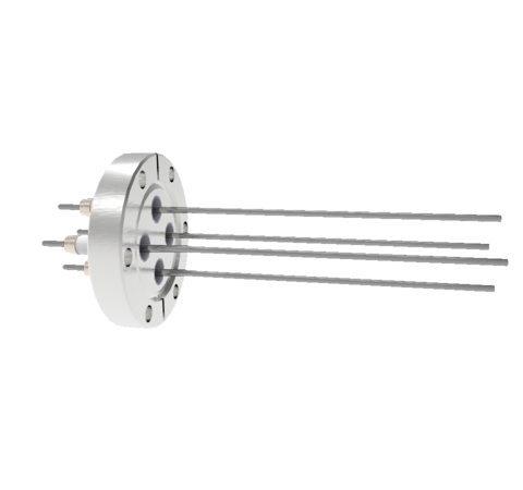 0.094 Conductor Diameter 4 Pin 10kV 28 Amp Molybdenum Conductor in a CF2.75