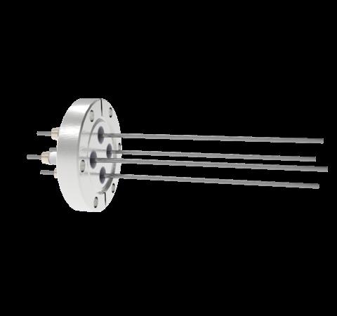 0.094 Conductor Diameter 4 Pin 10kV 28 Amp Molybdenum Conductor in a CF2.75