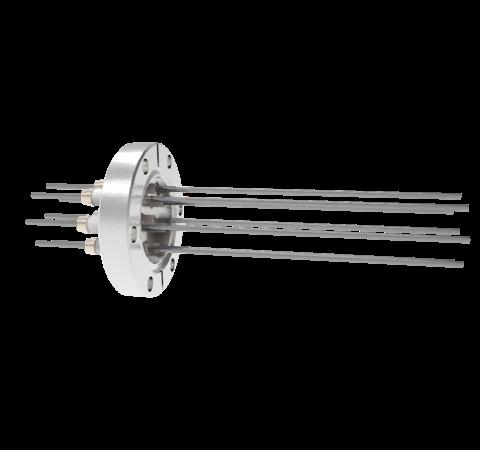 0.094 Conductor Diameter 8 Pin 5kV 28 Amp Molybdenum Conductor in a CF2.75