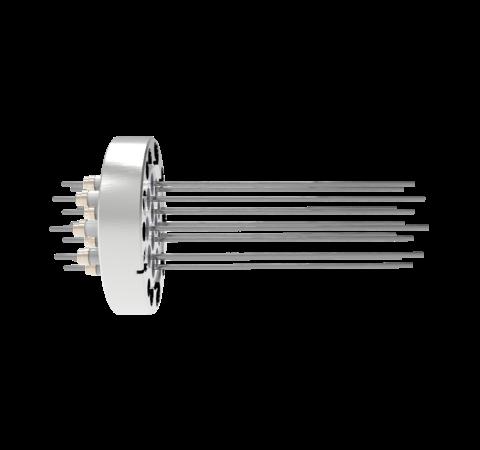 0.094 Conductor Diameter 12 Pin 10kV 28 Amp Molybdenum Conductor in a CF3.375