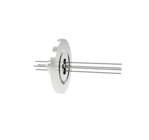 0.032 Conductor Diameter 4 Pin 2kV 8.5 Amp Molybdenum Conductor in a KF25