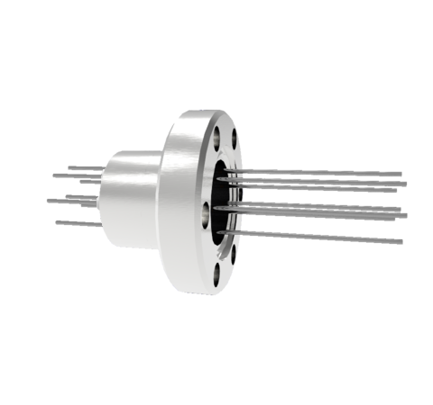 8 Pin, 1.5kV, 8.5 Amp, Molybdenum Feedthrough, 0.032 Inch Diameter Conductors in a CF1.33 Flange