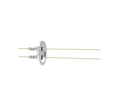 0.094 Conductor Diameter 2 Pin 5kV 16.5 Amp Nickel Conductor in a KF40