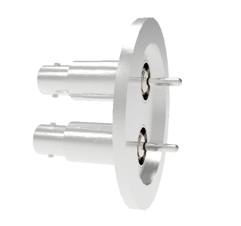 BNC Grounded Shield Recessed 500V 3.6 Amp 0.094 304 Stn. Stl. Conductor 2 each KF40 Without Plug