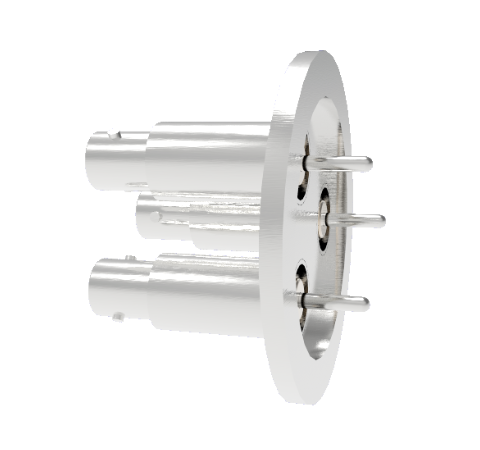 BNC Grounded Shield Recessed 500V 3.6 Amp 0.094 304 Stn. Stl. Conductor 3 each KF40 Without Plug