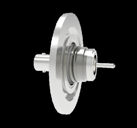 BNC Floating Shield  500V 3.6 Amp 0.094 304 Stn. Stl. Conductor KF40 Flange Without Plug