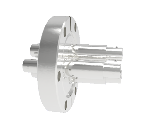 BNC Grounded Shield Recessed 500V 3.6 Amp 3 each in a CF2.75 Flange Without Plug
