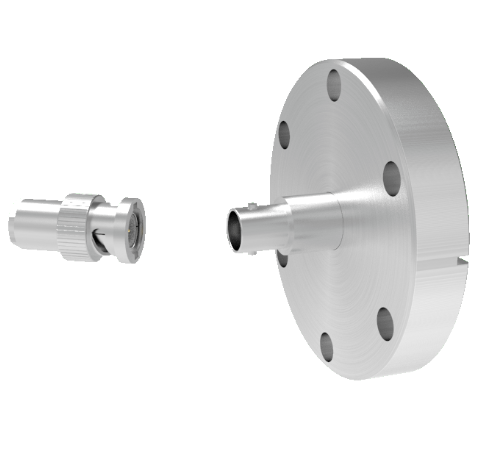 BNC Grounded Shield Recessed 500V 3.6 Amp 0.094 304 Stn. Stl. Conductor CF2.75 Flange With Plug