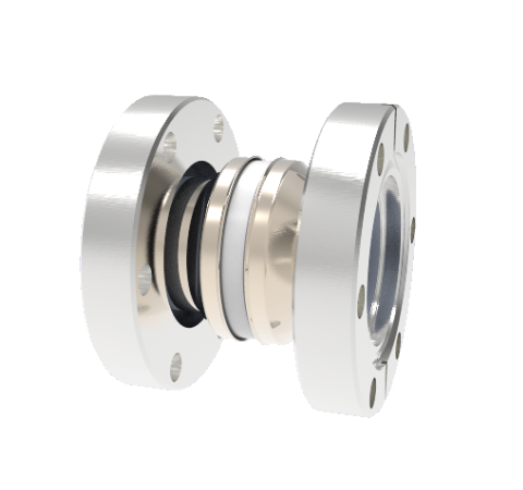 5kV Isolator, 1.3 Inch Insulator ID, Cryogenic Rated -269°C to 450°C Break on CF2.75 Conflat Flanges
