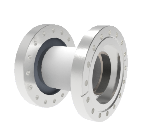 60kV Isolator, 2.5 Inch Insulator ID, Rated From -55°C to 450°C, Break on CF6.00 Conflat Flanges