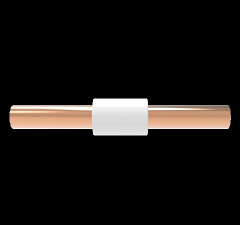5kV Isolator, 0.38 Inch ID, Liquid Feedthrough, Rated 0°C TO 100°C, Copper Break, Solder or Braze in