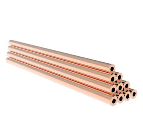 0.125 Inch Diameter, 3.0 Inch Long, Copper Pinch Off Tubes, 10-Pack