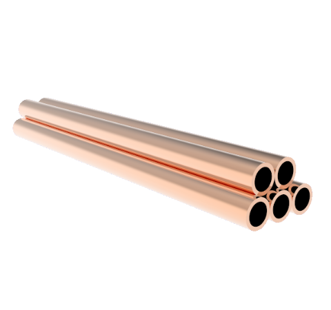 0.250 Inch Diameter, 4.0 Inch Long, Copper Pinch Off Tubes, 5-Pack