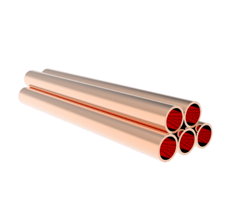 0.375 Inch Diameter, 4.0 Inch Long, Copper Pinch Off Tubes, 5-Pack