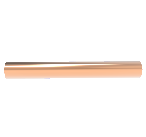 0.750 Inch Diameter, 6.0 Inch Long, Copper Pinch Off Tube, No Fittings