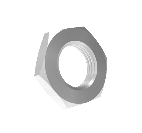 Stainless Steel Jam Nut for use with Hermetic Fiber Optic Baseplate Adapters